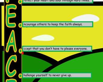 Peace Poster - Printable Inspirational Art Download