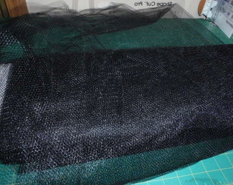 """Black Nylon Net 72"""" Wide  Fabric Sold by the Yard"""