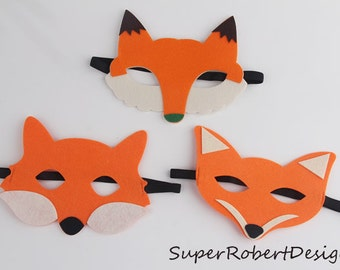 Halloween mask , Fox mask, fox costume, Woodland Fox - Fox Costume Accessory - Animal Mask - Party Mask - Pretend Play