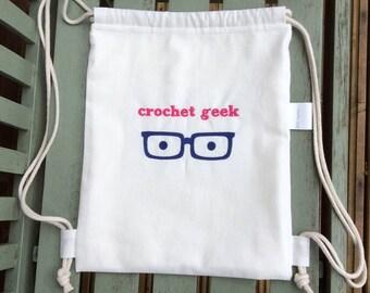 Project Bag: Crochet Geek (Pink)