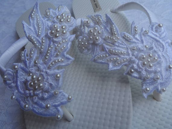 Bridesmaids Shoes Flip Lace Sandals White Venice Bridal Flops Wedding Bridal Venice Lace Flip Flops flops White Flip ZwaqO