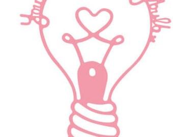2.75 x 4 Inch Light Bulb Die!