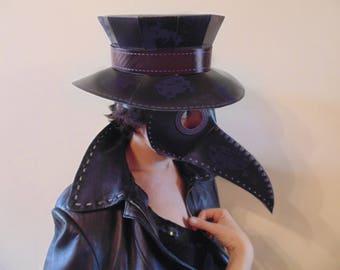 DIY Plague doctor mask + Plague doctor hat PRINTABLE. Plague doctor mask pattern. Beak mask Plague doctor half mask Plague doctor hat Plague