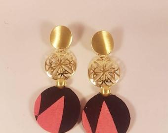 Ankara fabrics earrings / African print earrings /Statement earrings