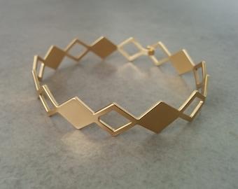 Geometric Bracelet, Gold Bracelet, Geometric Bangles, Gold Geometric Bracelet, Cuff Bracelet, Bridesmaid Gift, Triangle Bracelet, Bangles