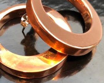 DANGLING ART ~ Circular Copper Earrings