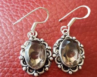 Smoky Quartz Earrings !