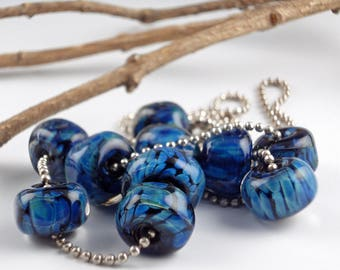 Lampwork Glass Beads, Handmade lampwork bead set, jewelry supplies, lampwork beads, lampwork spacer beads, artist lampwork, Moon Dust