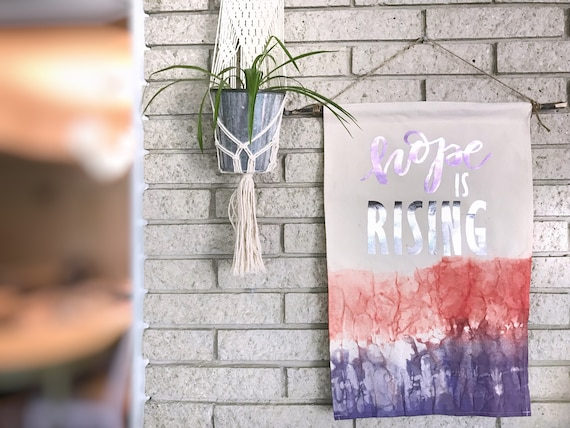 Hope is Rising - Large Canvas Banner