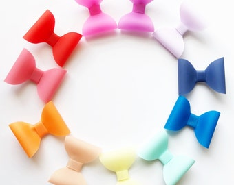 SUMMER JELLY BOWS / waterproof / pool bows / cherry red/ coral/ tangerine orange/ apricot peach/ lemon yellow /rainbow colors