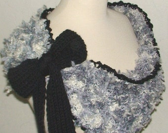 Shawl/ Capelet/ Cowl Grey Shades and Black SALE