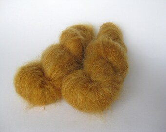 Luxury Kid Mohair, laceweight Vintage Mohair, Mustard, Honey, Ginger, Dolls hair