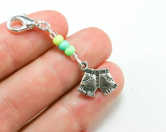 Sale Clearance Girls Charms. Fun Beaded Shorts Charms. Favors for Girls Birthday Party. BSC062
