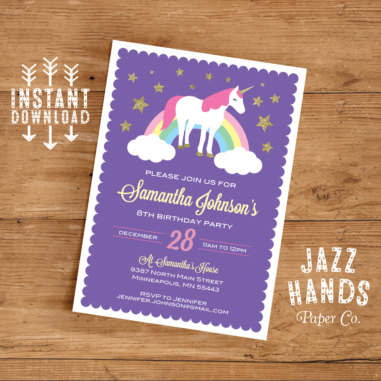 It's just a picture of Influential Printable Unicorn Invitations