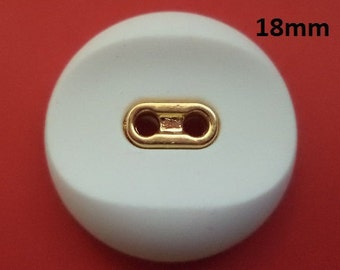 7 buttons 18 mm White button (6388e)