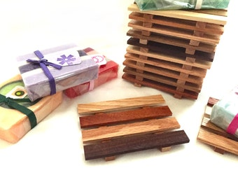 8 Reclaimed Wood Soap Dishes - Thin Dish JUST 1.29 each