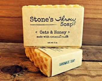 Oat's & Honey Handmade Bar Soap