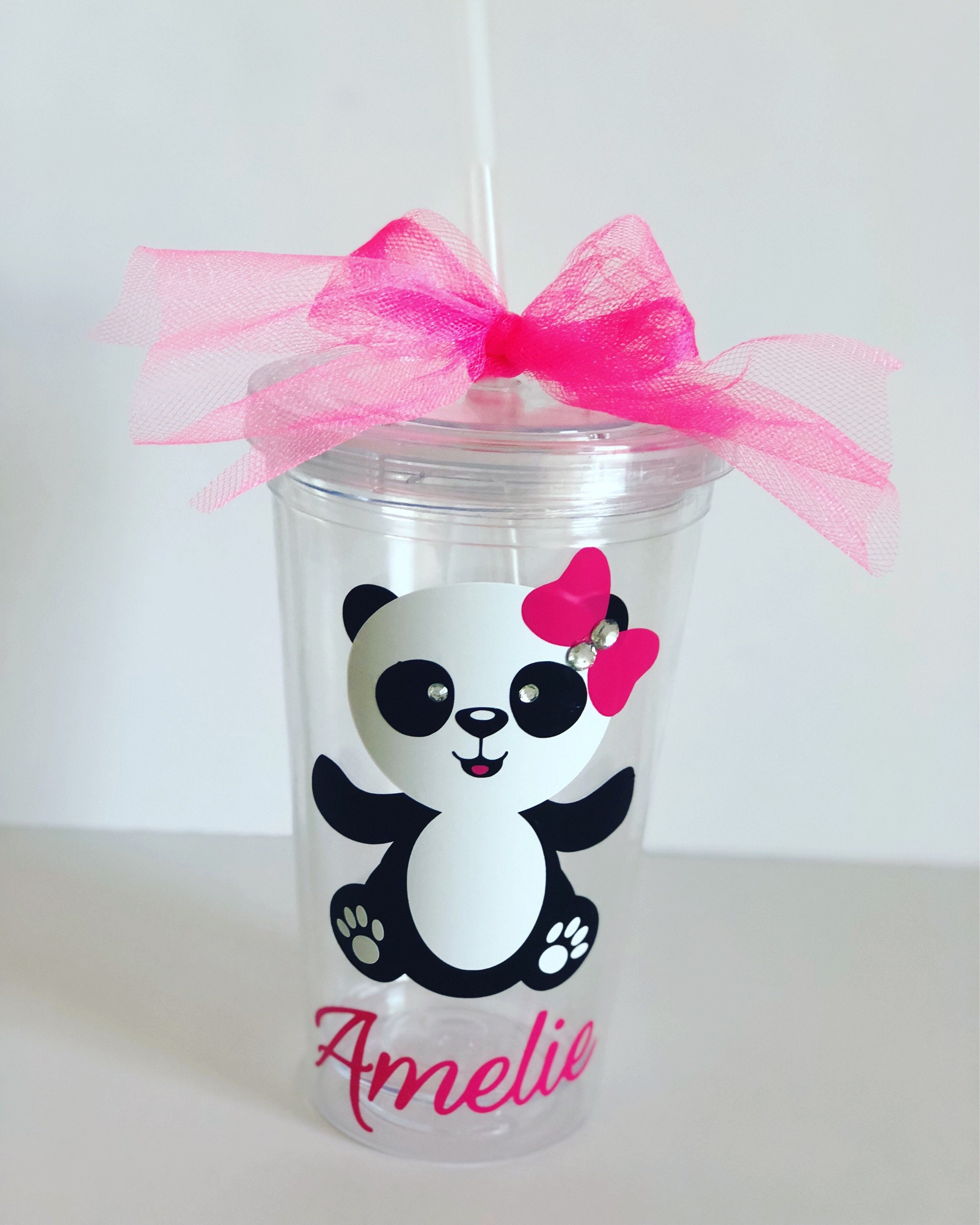 Tumber Cup Panda Theme Baby Shower Birthday Party Panda