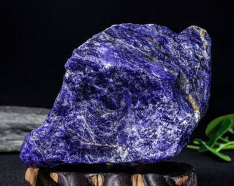 AAAAA 3.3lb Large Size Raw Blue Sodalite Rough Unpolished Stone Crystal Home Decor/Throat Chakra/Healing Crystal/Quartz/Special Gift--#3241