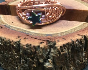 Copper ring - copper band - ring