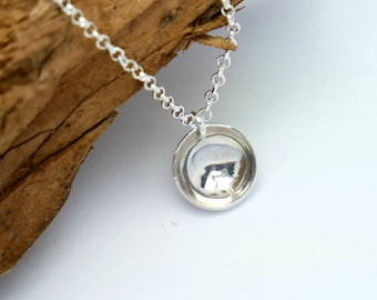 Sterling silver minimalist necklace with star