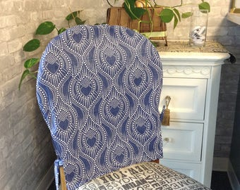 kitchen chair back covers. Chair Back Cover Alysa Regal Navy Slub Canvas Fabric Rounded Kitchen Cover. Cottage Covers