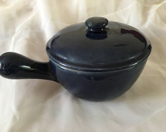 Denby COTTAGE BLUE Small Casserole Gravy Pot With Handle