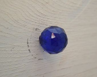 Glass Drawer Knobs In Navy Blue, Drawer Pull, Cabinet Pull, Cabinet Knobs