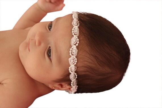 Baptism Headband, White Headband, Baby Headband, Infant Headbands, Newborn Headband, Pearls Headband