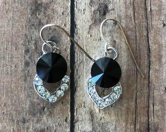 Rhinestone pave earrings