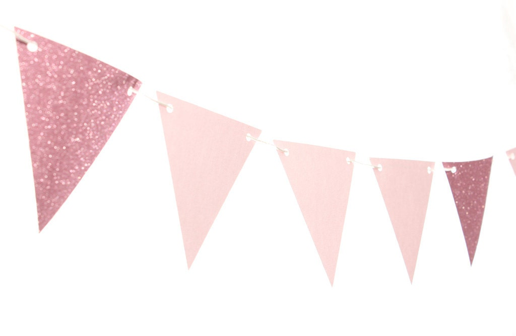 Famous Pink Triangle Flag Banner / Pink Pennant Banner / Pink Bunting SR95