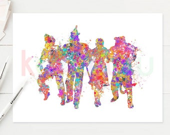 The Wizard of Oz Watercolor Art - The Wizard of Oz Watercolor Painting - Room Decor - Home Decor - House Warming Gift - O9