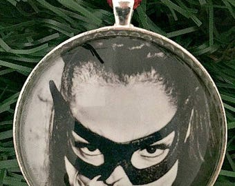 Eartha Kitt Ornament, Eartha Kitt, Catwoman, Free Shipping, Feminist Christmas, Christmas Ornament, Ornament, 50mm Ornament