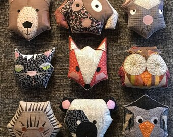 Intro Offer: ITH HYGGE HEXI-Animal Pillows, 9 Big Hoop Machine Embroidery Designs, soft little animals, Appliqués, Instant Download