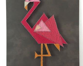 Flamingo Pink leather