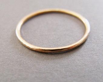 1mm 9ct Yellow Gold Slim Ring, minimalist stacking ring, slim rose gold ring