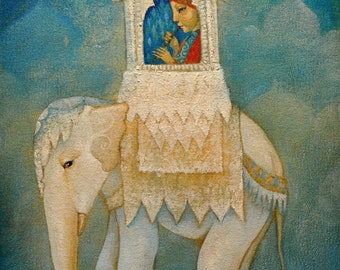 """Limited edition giclée print of original painting by Lucy Campbell - """"The Lonely Prince"""""""