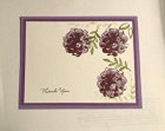 Deep Color Flower Greeting Card