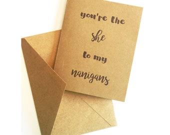 Shenanigans Card
