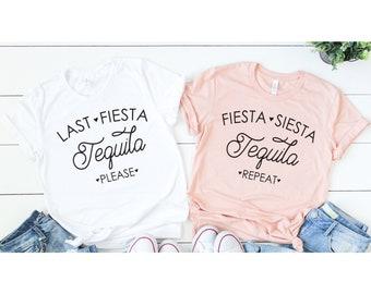 Fiesta Siesta Tequila Repeat, Bachelorette Shirts, Bachelorette Party Shirts, Fiesta Bachelorette Weekend (BR056) B33