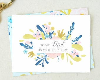 Father of the Bride Card. Mom Wedding Day Card. From the Bride Card. Mother Wedding Day Card. To My Father Card Father Wedding Day Card DO06