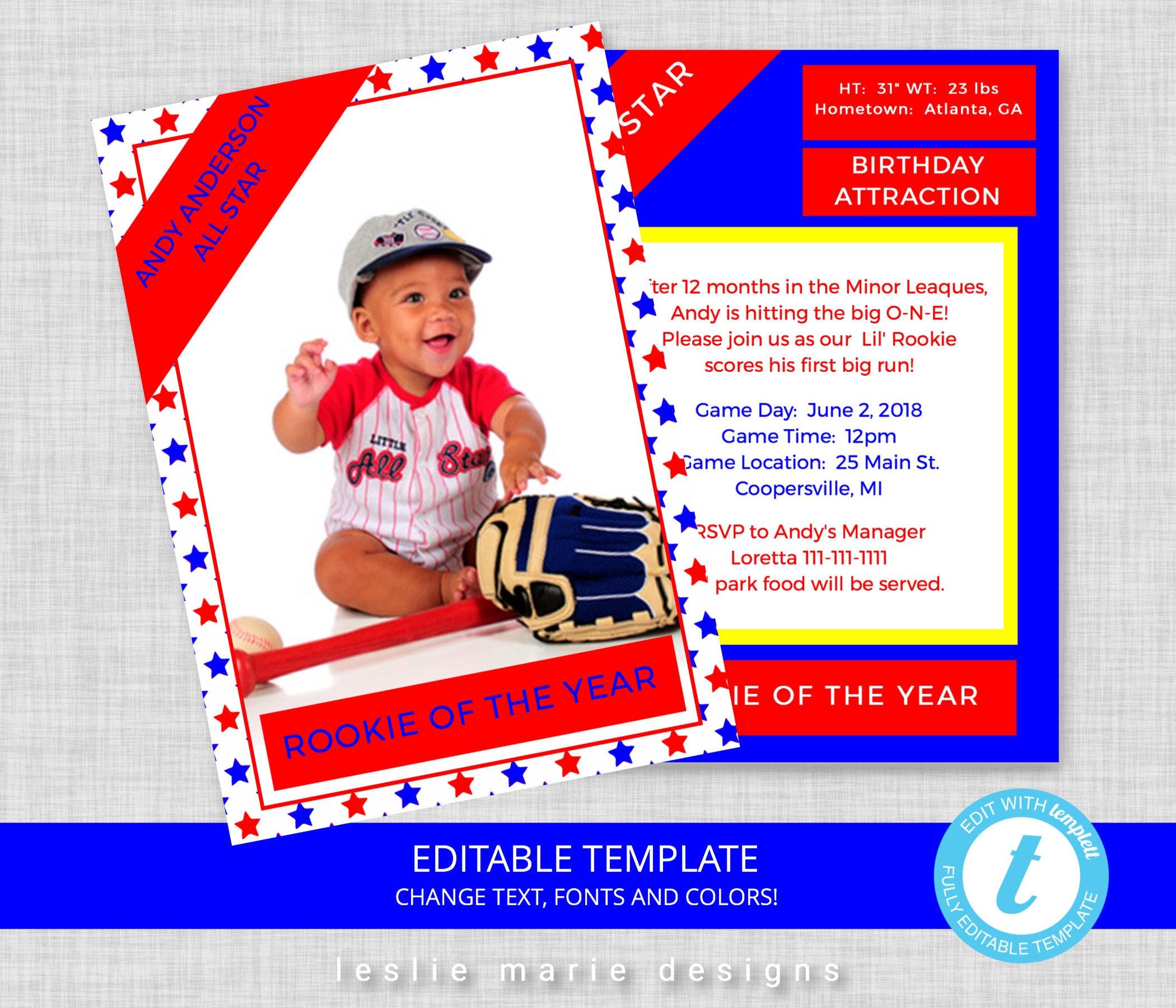 Dorable Invitation First Birthday Boy Motif - Resume Ideas ...