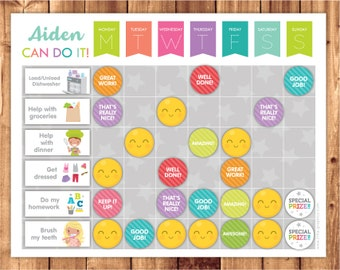 Chore Chart / Reward Chart / Behavior Chart / Digital Download