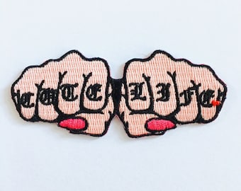 Cute Life Iron On Embroidered Patch
