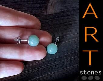 Jade earrings gift for woman\Green jade earrings gift\Jade jewelry\stud jade earrings\Gift for her\Real jade earrings\Gift jade\earrings