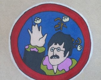 Original Drawing - The Beatles John Lennon - Yellow Submarine