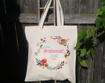 Flower Girl Tote Bag, Junior Bridesmaid Tote, Wedding Welcome Bag, Wedding Tote Bag