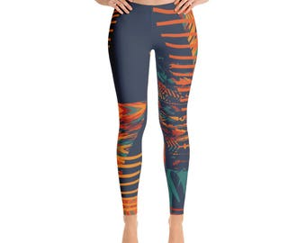 Tribal Print Yoga Pants/Leggings, Colorful, Gifts for Her, Exercise Tights, Exercise Leggings, Workout Clothing