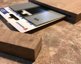 Hardwood gift card holder