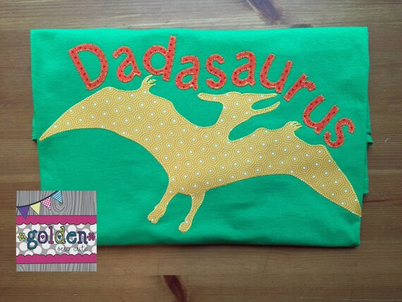 Dadosaurus Pteranodon Dino, Dinosaur Name and Age, Number, Birthday Tee, DAD